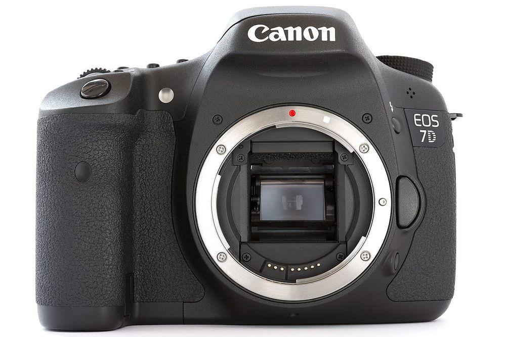Canon eos 7d dslr body front 1